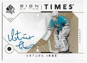 18-19-SP-AUTHENTIC-SIGN-OF-THE-TIMES-AUTOGRAPH-Arturs-Irbe-SOTTAI
