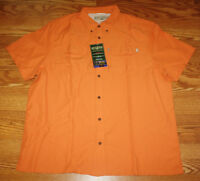 Mens Field & Stream Universal Travel Shirt Uv Protection Orange Size Xl $60
