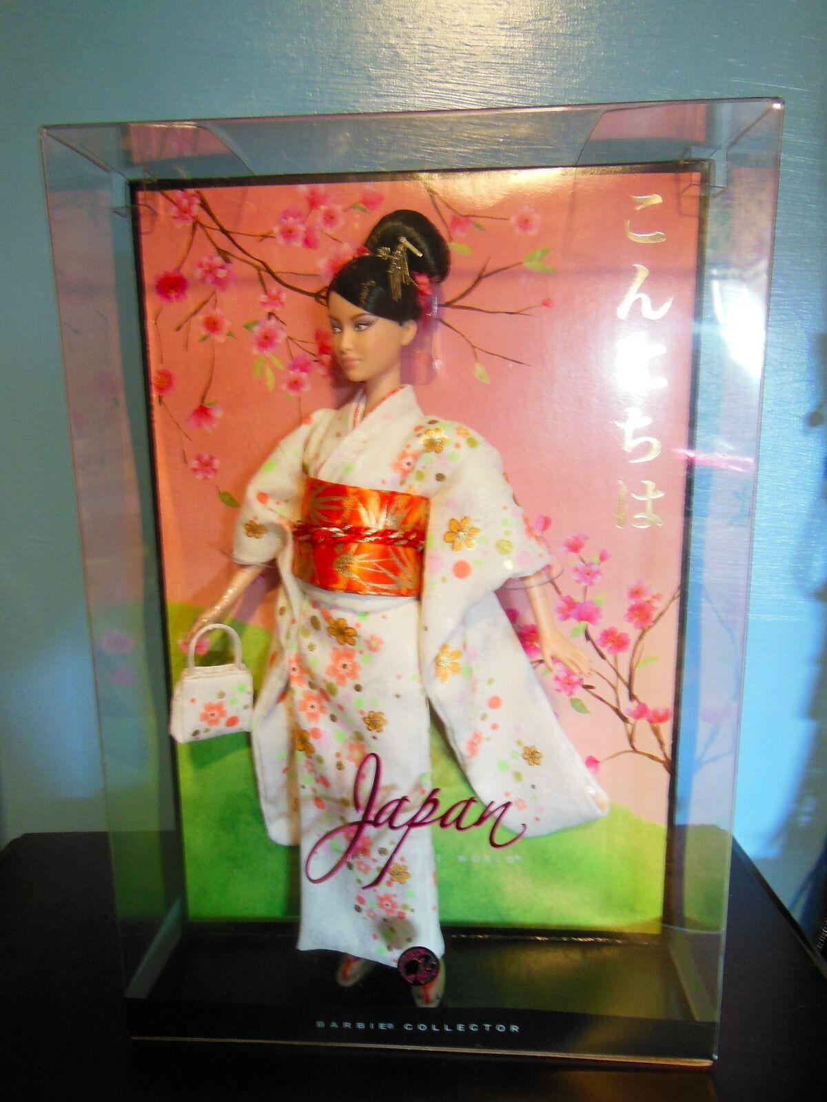 Platinum Japón Muñecas del mundo Barbie En blancoo Kimono nunca quitado de la caja