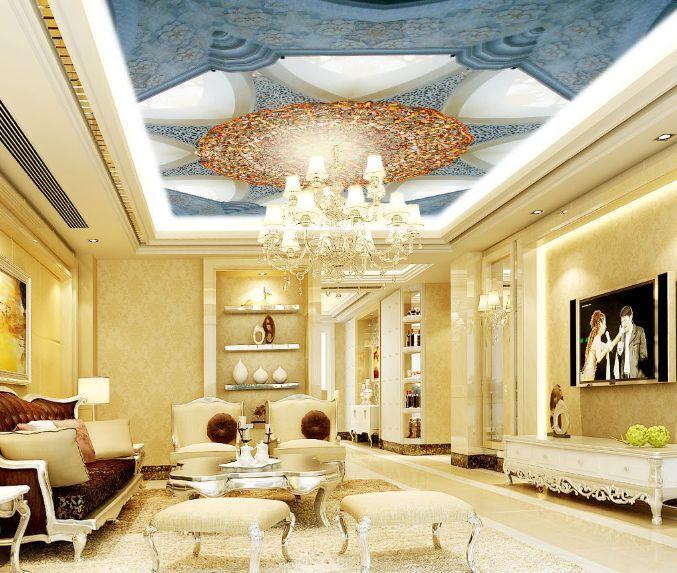 3D Blau Designs 2 Ceiling WallPaper Murals Wall Print Decal Deco AJ WALLPAPER GB