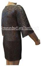 8 mm XL Chainmail Hauberk Armor Chain mail Shirt Flat Riveted Flat Washer Rings