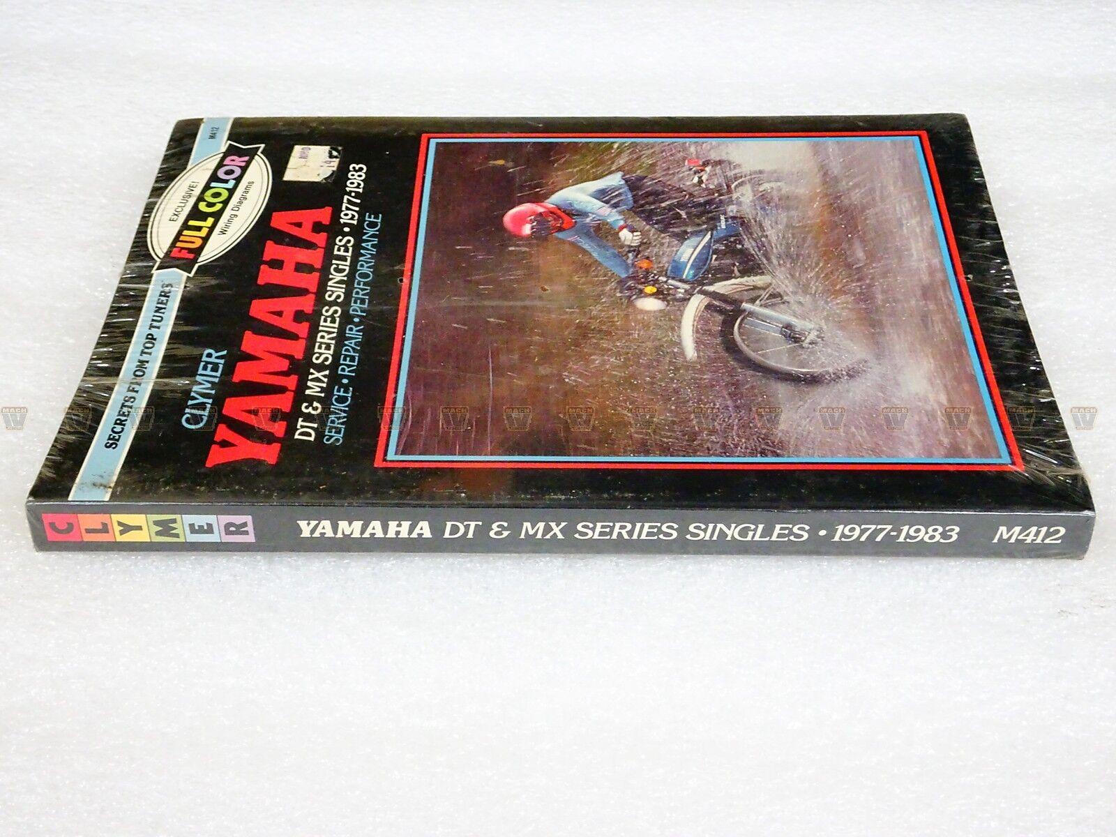 Clymer Yamaha Dt Mx Series Singles 1977 1983 Repair Maintenance Dt400 Wiring Diagram Manual Y412 Ebay