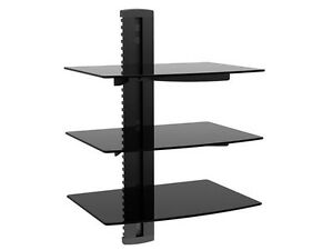 Component-Shelf-Wall-Mount-3-Tier-Rack-DVD-Cable-Box-Game-Console-TV-Stereo