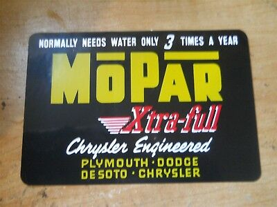 1949 1950 1951 DODGE PLYMOUTH CHRYSLER IMPERIAL DESOTO OIL FILTER CAP DECAL 6CYL