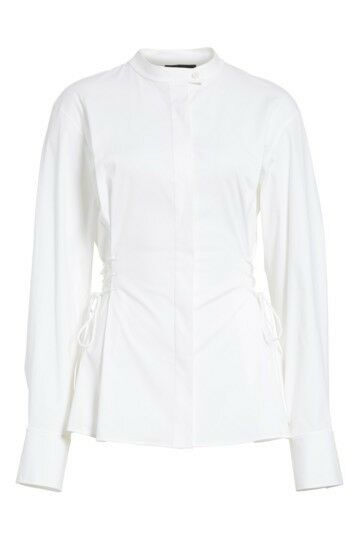 New Weiß Theory Laced Stretch Cotton Shirt Größe Petite MSRP