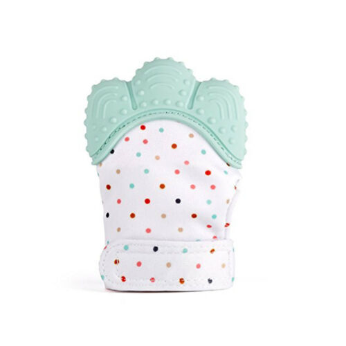 Baby Silicone Mitts Teething Mitten Glove Candy Wrapper Sound Teether Toy Gifts