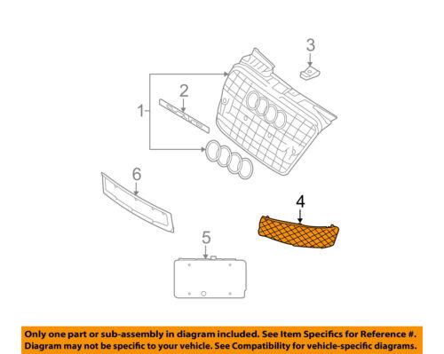 AUDI OEM 06-07 S4 Front Bumper-Lower Bottom Grille Grill Left 8E0807681JZ9Y
