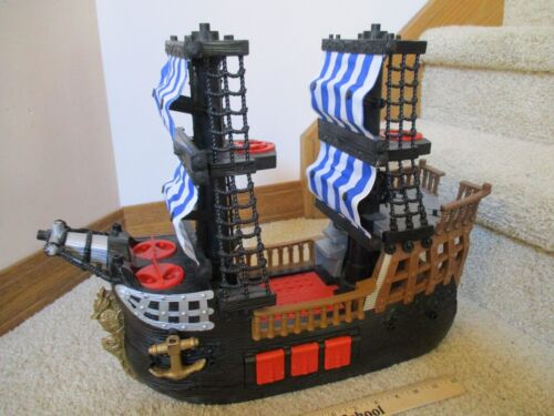 Fisher Price Imaginext Great Adventures Pirate SHIP Raider Black Kohl/'s Excl Toy