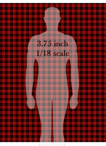 Plaid Tartan Shirt Kilt Pattern Waterslide Decals for 1//18 scale Action Figures