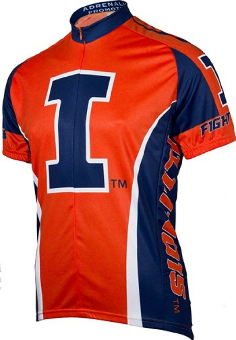 NCAA mannen's Adrenaline Promotions Illinois Vechtend Illini Road Cycling Jersey