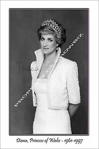 PRINCESS DIANA - LARGE AUTOGRAPH PHOTO POSTER PRINT - GREAT PIECE OF MEMORABILIA