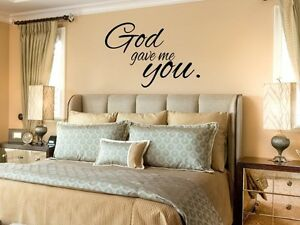 God Gave Me You 2 Wall Art Decal Quote Words Lettering Decor Sticky