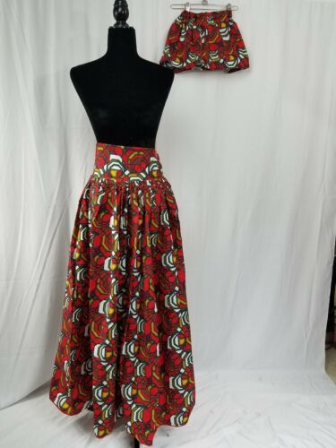 Size Hair e Bow Waist 8 30 Waist Size Africa Africa Hair Me Ankara Skirt 30 And Mom 8 Mamma Maxi Skirt Maxi me Ankara Bow 84dwHRqR