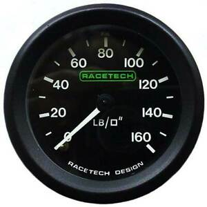 Racetech-Oil-Pressure-Gauge-0-160-PSI-Non-Backlit-With-1-8-034-BSP-Nipple-Fitting