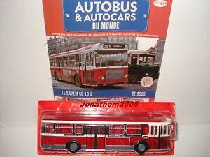 AUTOBUS-amp-AUTOCARS-DU-MONDE-SAVIEM-SC-10-U-ROUGE-RATP-PARIS-1965-au-1-43