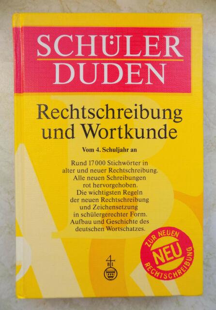 Schüler DUDEN Rechtschreibung und Wortkunde Vom 4.Schuljahr an ISBN 341104215X