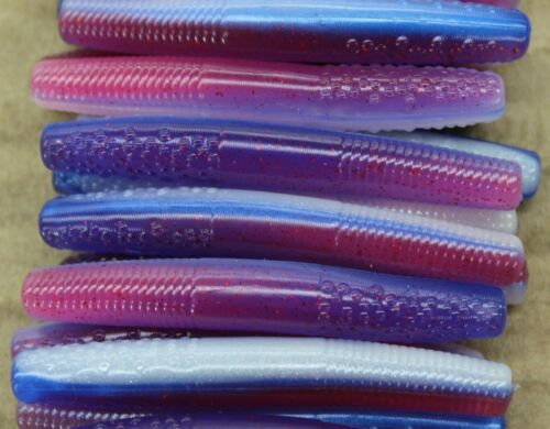 """2.75/"""" Finesse Stick Morning Dawn Ned Rig Type Floating Worm 50 pack Bulk"""