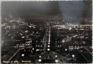 1954-cartolina-Milano-di-notte-Panorama-Edizione-SAF-Fotocelere-Foto-viaggiata