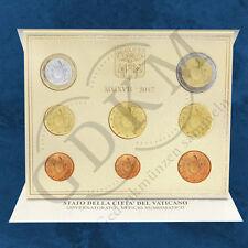 Vatikan - Jahrgangssatz - KMS 2017 BU - Wappen neues Motiv - 3,88 Euro