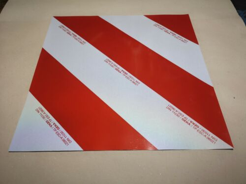 Warnfolie retroreflektierend  Form A 423 x 423 mm Warntafel Folie GEKA DIN 11030