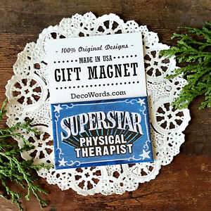 DecoWords-MAGNET-Superstar-PHYSICAL-THERAPIST-Gift-Therapy-Health-Occupation-US