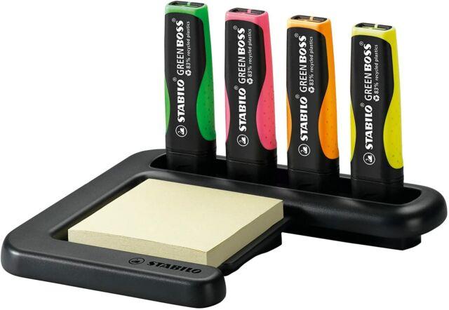 Highlighter STABILO Green Boss Deskset of 4 Assorted Colors