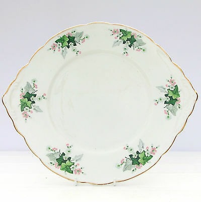 Vintage Rydalia Ware Bone China Cake Plate Ivy Leaves Floral