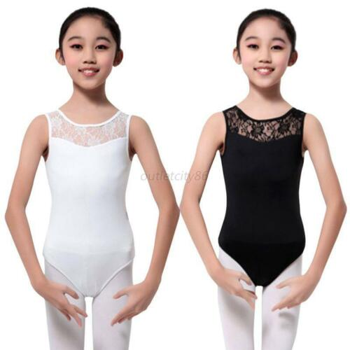 Kid Girl Sleeveless Ballet Dancewear Leotard Clothes Gymnastics Costume 4-15Y US