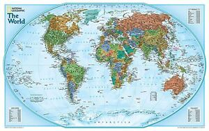 National Geographic World Explorer Map Poster With Size Finish