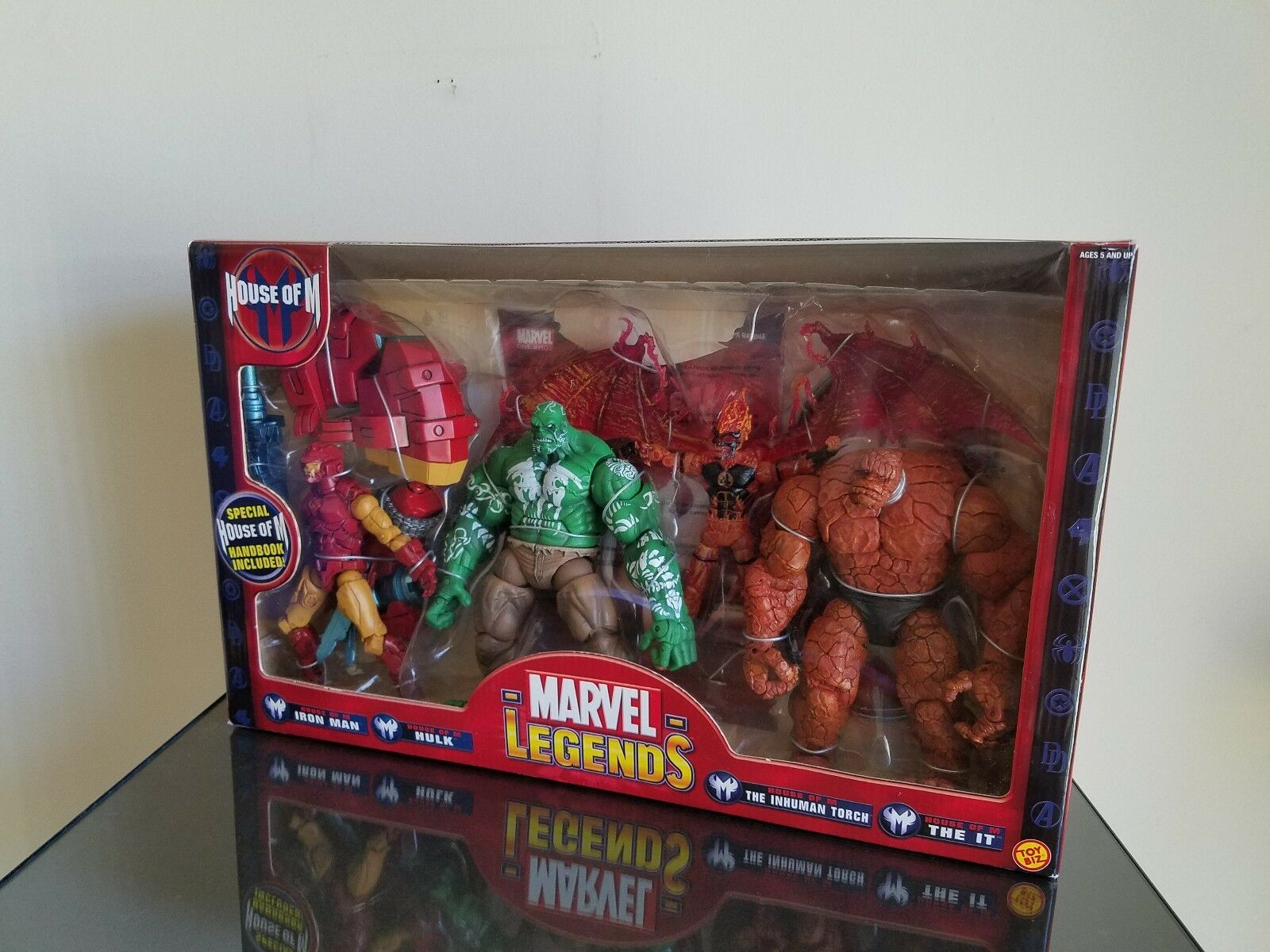 MARVEL LEGENDS HOUSE OF M 5 FIGURE BOX SET Toy Biz