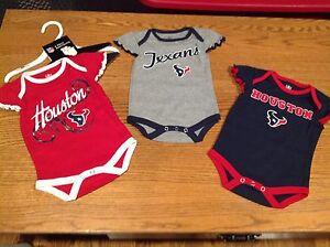 Houston Texans NFL Infant Girl s 3-Pack Creeper Set Size 0-3 Months ... 7f07e1035