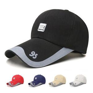 3f4abe1ce20 Mens Women Long Bill Baseball Caps Summer Golf Snapback Fishing ...