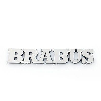 3D Car Auto Emblem Badge Sticker Decal Metal Brabus Logo Silver D