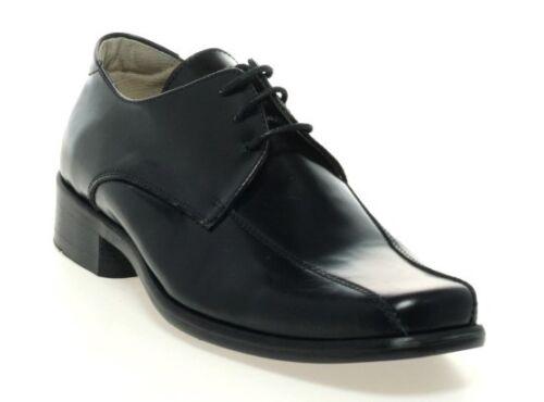 100/% Positive Reviews Petasil Cesar Boys Black Leather F Fit School Shoes
