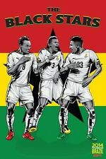 FIFA World Cup Soccer Event Brazil | TEAM GHANA Poster | 11 x 17 Inches