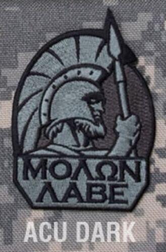 MOLON LABE SPARTAN ACU DARK TACTICAL COMBAT BADGE MORALE MILITARY PATCH