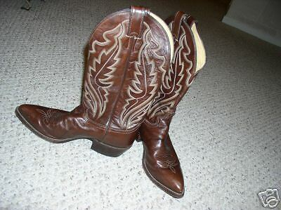 JUSTIN CHOCOLATE CHOCOLATE CHOCOLATE braun LEATHER COWBOY Stiefel 9D 9 D 2d5738
