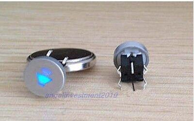 5pcs Blue Led Dia 10mm Cap  SPEAKER  12V Momentary Tact Push Button Switch