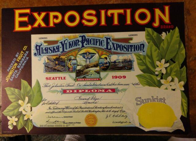 Goleta Ship Lemon Citrus Fruit Crate Label Art Print