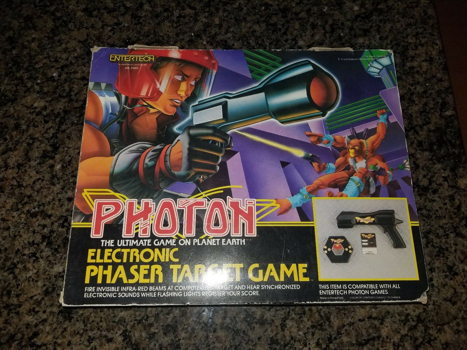 Photon  Red Team  Complete Laser Tag Tag Tag w extra Gun set by EnterTech 1986 99f694