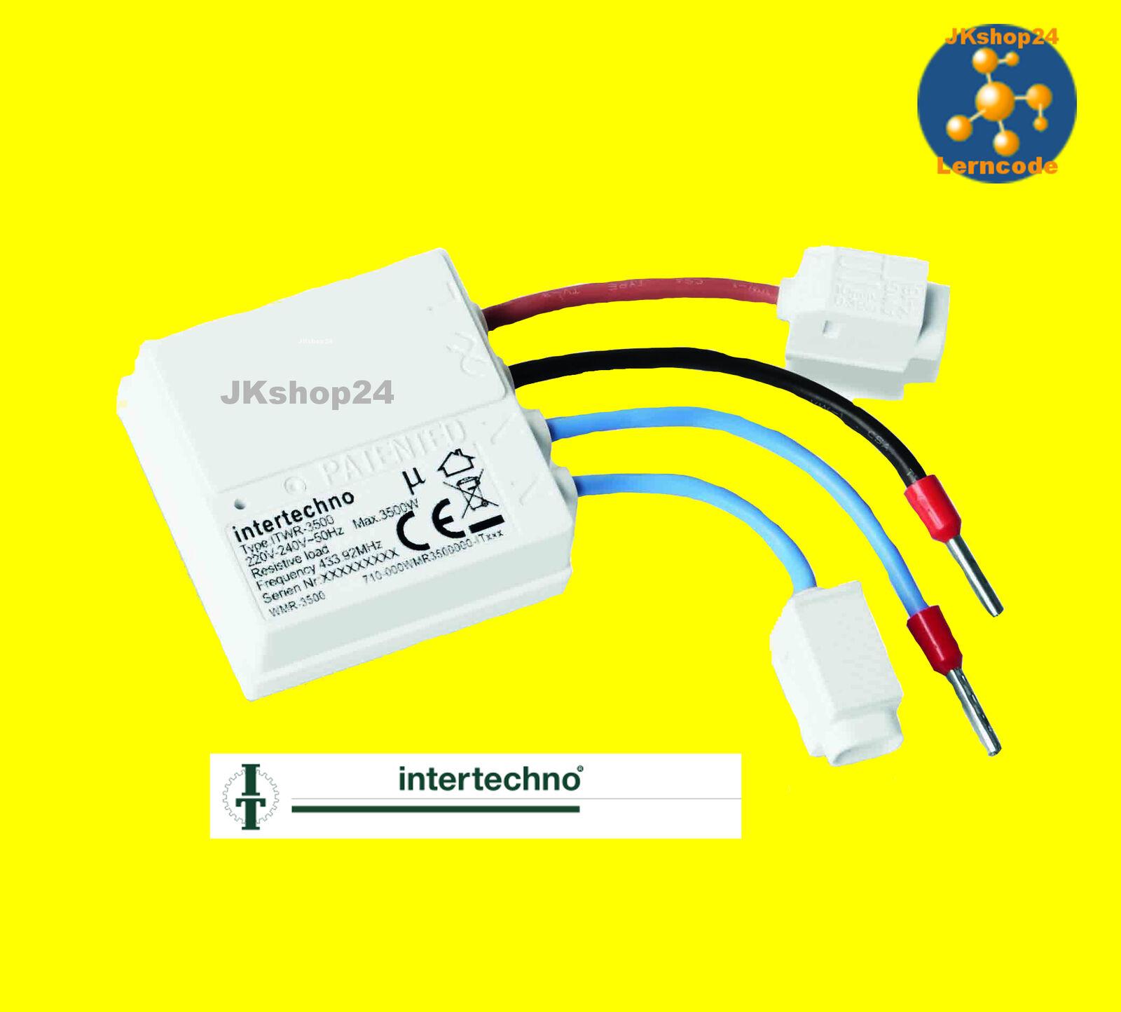 ITWR-3500 W POWER FUNK-SCHALTER f.Lampen LED Geräte Intertechno Einbau-Empfänger | Ich kann es nicht ablegen