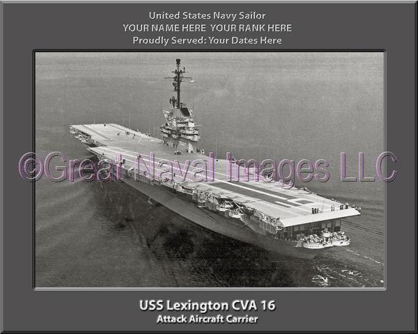 USS Lexington CVA 16 Personalized Canvas Ship Photo Print 2 Navy Veteran Gift
