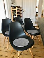 Bordstolesæt, Eames DSW spisebordsstol, 4 stk.
