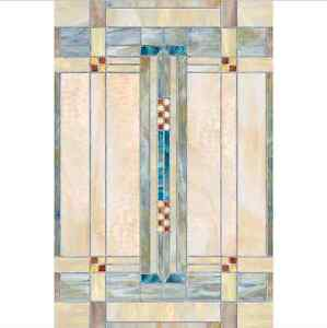Decorative Floral Glass Shower Door Privacy Film Decorative Artisan Stained Etched Glass Bathroom Art UV