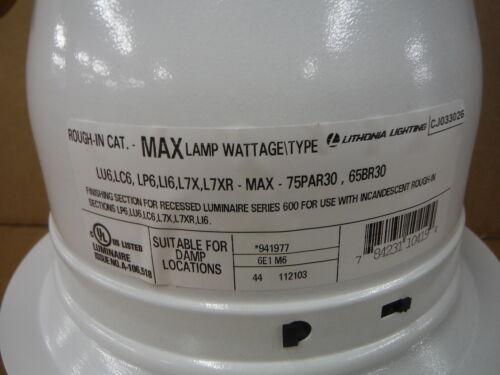 Lithonia Lighting Advantage White Eyeball 6E1 Recessed Lighting