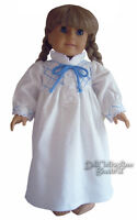Pioneer Era Flannel Nightgown Blue Trim For 18 Dolls Doll Clothes Reproduction