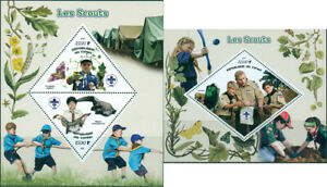 Scouts-Scouting-Activities-Minerals-Butterflies-Alligator-Fauna-MNH-stamps-set