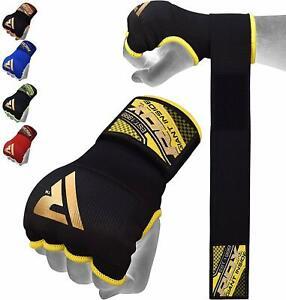 RDX-Boxe-Bandes-De-Mains-MMA-Gants-Protege-Poignet-Bande-Entrainement-Frappe