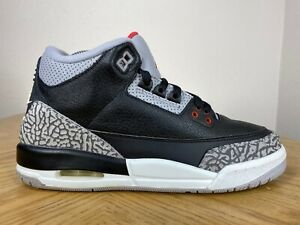 Men-039-s-Nike-Air-Jordan-3-III-Retro-OG-GS-Black-Cement-2018-Size-6-5Y-854261-001