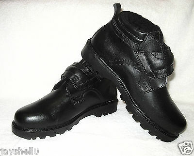 MENS BLACK REAL LEATHER TOUCH FASTENING COMFORT CHELSEA SHOE, BOOTS 6-11